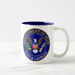 Two-Tone Mug with Official Mom Seal design