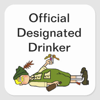 Official Designated Drinker Stickers or Name Tags