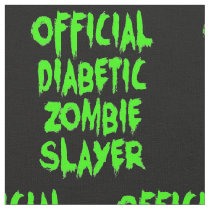 Official Diabetic Zombie Slayer Fabric