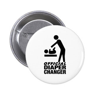 Official Diaper Changer 2 Inch Round Button