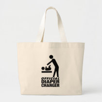 Official Diaper Changer Large Tote Bag