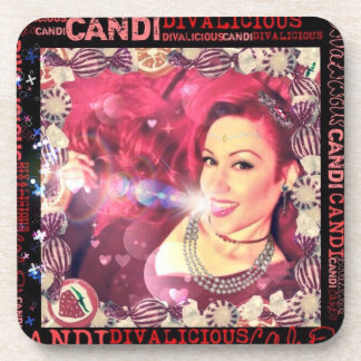 Official Divalicious Candi Coasters with Cork Back