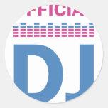 official DJ Classic Round Sticker