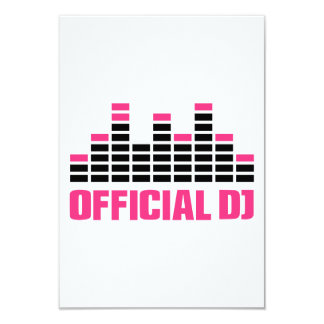 Official DJ Equalizer 3.5x5 Paper Invitation Card
