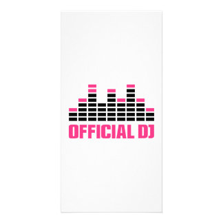 Official DJ Equalizer Customized Photo Card