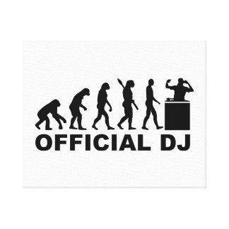 Official DJ Evolution Canvas Print