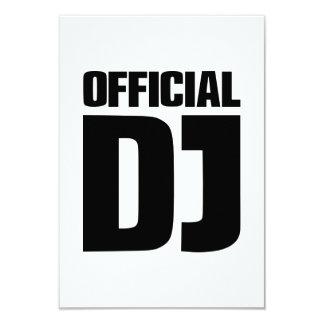 Official DJ 3.5x5 Paper Invitation Card