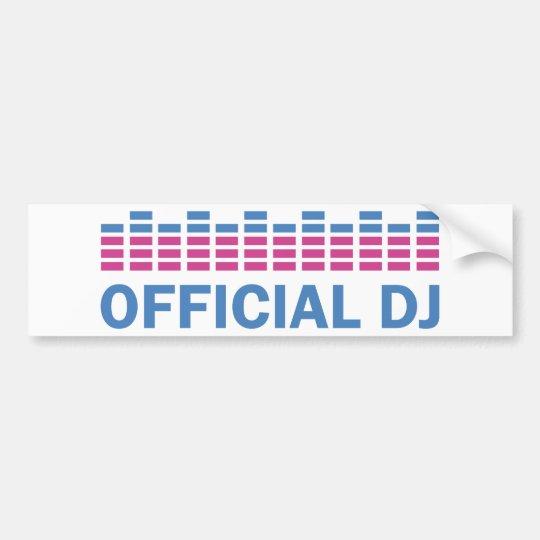 official dj music icon bumper sticker