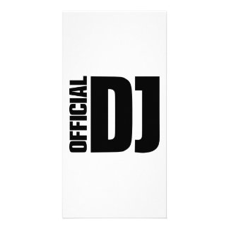 Official DJ Photo Greeting Card