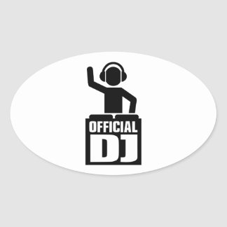 Official DJ Oval Sticker