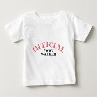 Official Dog Walker - Pink Baby T-Shirt