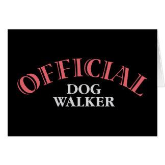 Official Dog Walker - Pink Greeting Card