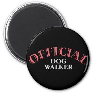 Official Dog Walker - Pink 2 Inch Round Magnet