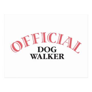 Official Dog Walker - Pink Postcard