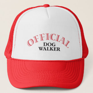 Official Dog Walker - Pink Trucker Hat
