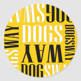 Official Dogsway Band Merch Classic Round Sticker