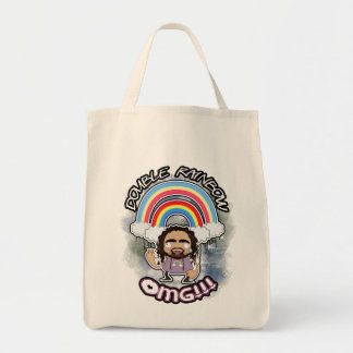OFFICIAL Double Rainbow ORGANIC Grocery Tote Grocery Tote Bag