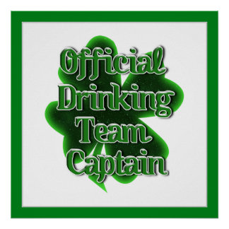 Official Drinking Team Captain Poster