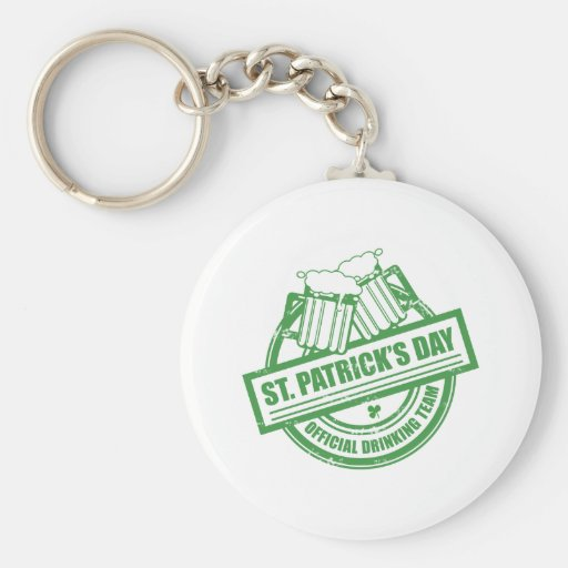 Official Drinking Team St Patrick's Day - Beer Keychain