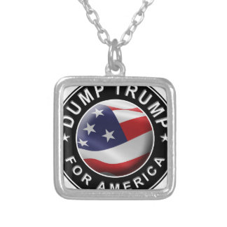 Official DumpTrumpforAmerica Logo Silver Plated Necklace