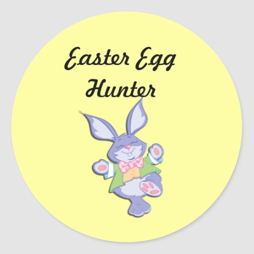 Official Easte Egg Hunter Bunny Stickers