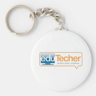 Official eduTecher Products Basic Round Button Keychain