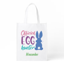 Official Egg Hunter Personalized Easter Bunny Kids Grocery Bag