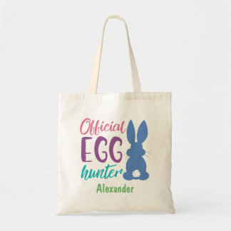 Official Egg Hunter Personalized Easter Bunny Kids Tote Bag