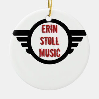 Official Erin Stoll Music Wings Gear Ceramic Ornament