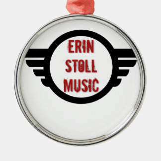 Official Erin Stoll Music Wings Gear Metal Ornament