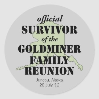 Official Family Reunion Survivor - Alaska Green Classic Round Sticker