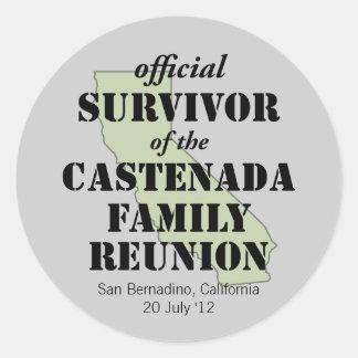 Official Family Reunion Survivor - California Gree Classic Round Sticker