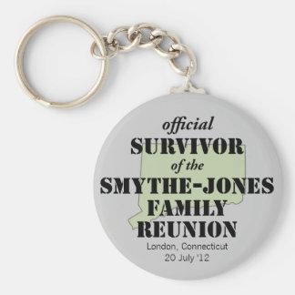 Official Family Reunion Survivor - Connecticut Basic Round Button Keychain