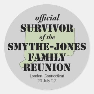 Official Family Reunion Survivor - Connecticut Classic Round Sticker