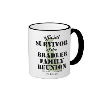 Official Family Reunion Survivor - Delaware Green Ringer Coffee Mug