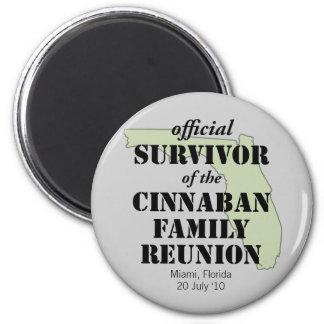 Official Family Reunion Survivor - Florida Green Magnet