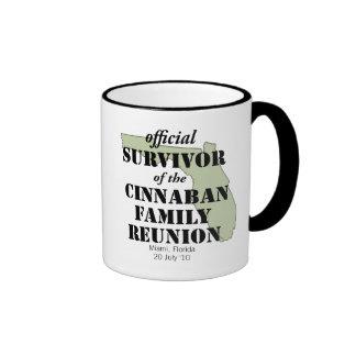 Official Family Reunion Survivor - Florida Green Ringer Coffee Mug