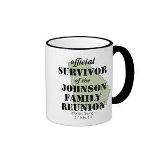 Official Family Reunion Survivor - Georgia Green Ringer Coffee Mug