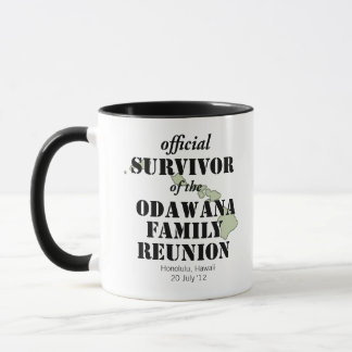 Official Family Reunion Survivor - Hawaii Green Mug