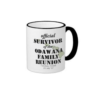 Official Family Reunion Survivor - Hawaii Green Ringer Coffee Mug
