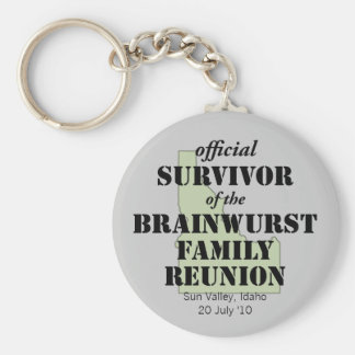 Official Family Reunion Survivor - Idaho Green Basic Round Button Keychain