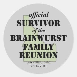 Official Family Reunion Survivor - Idaho Green Classic Round Sticker