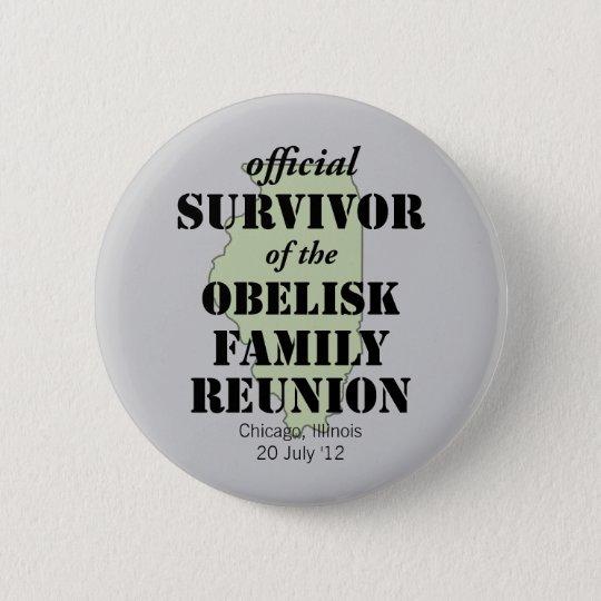 Official Family Reunion Survivor - Illinois Green Pinback Button