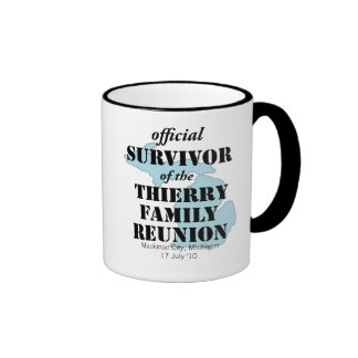 Official Family Reunion Survivor - Michigan Blue Ringer Coffee Mug