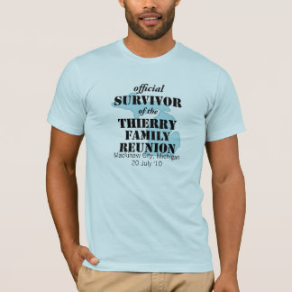 Official Family Reunion Survivor - Michigan Blue T-Shirt