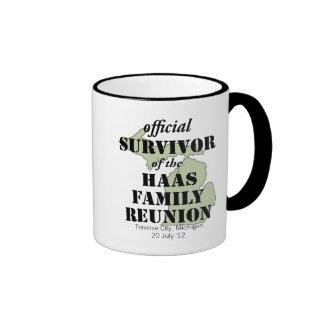 Official Family Reunion Survivor - Michigan Green Ringer Coffee Mug