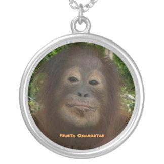 Official Fan Club Krista Orangutan Round Pendant Necklace