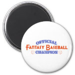Official Fantasy Baseball Champion Fridge Magnets