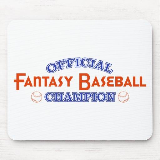 Official Fantasy Baseball Champion Mouse Pad