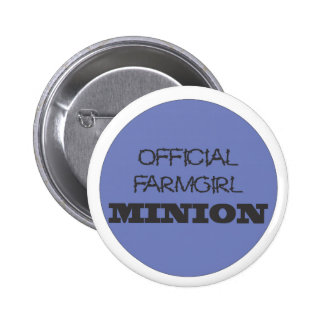 Official FarmGirl Minion Blue 2 Inch Round Button